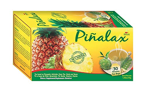 Pineapple Tea Blend for Weight Loss and Detox with Artichoke, Green Tea, Yacon and Stevia - 100% Natural (2 Pack x 30 Tea Bags)
