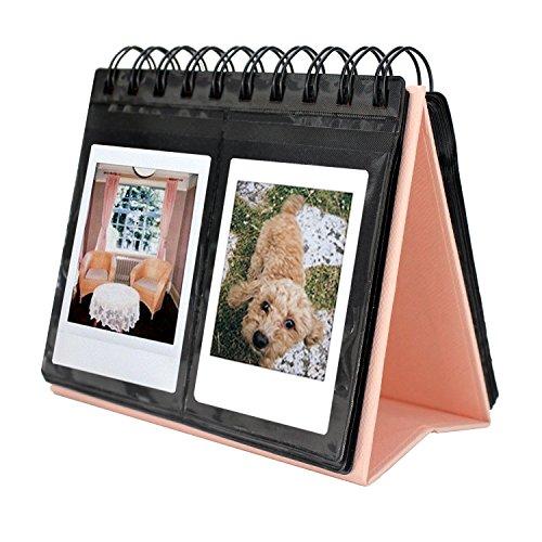 SAIKA 68 Taschenbuch-Album Polaroid Kalender-Fotoalbum für Instax Mini 25 26 70 7s 90 / Polaroid Snap/Snap Touch / Z2300 / SocialMatic Instant-Kameras(Rosa)