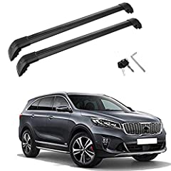 【Our Advantage】 Bars made from high grade aluminum, base feet are made of high quality plastic. They are light weight, easy to install and dismantle. Max load capacity is 220lbs (100kg). 【Attention & Fitment 】The cargo luggage crossbars roof rack fit...