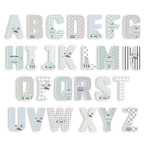 anyuq66qq Gartendekoration 3D PVC Großbuchstaben Englisch Alphabet Buchstaben Aufkleber Kinderzimmer Dekoration Kindergarten Spielplatz Kindergarten Dekorative Buchstaben, J, 15Cm