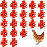 DoubleWood 20Pcs Chicken Nipples Horizontal Side Mount Poultry Water Nipple Waterer Drinker Outdoors for Chicken Ducks Quail and Other Poultry (20)