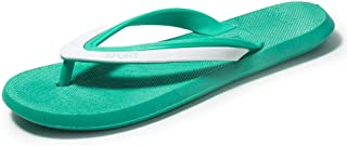 Comfortable/beautiful sandals and slippers Beach Slippers Men'S Summer Fashion Wear Non-Slip Flip-Flops Fight Color Matching Color Flip-Flops (Color : Green)
