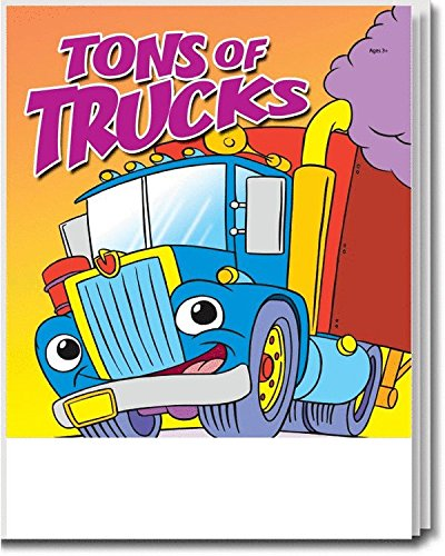 25-Pack - Tons of Trucks - Coloring and Activity Books for Kids, Without Crayons - Creative & Educational Gifts for Girls and Boys - School Supplies - Inexpensive Handoutss - Games & Puzzles