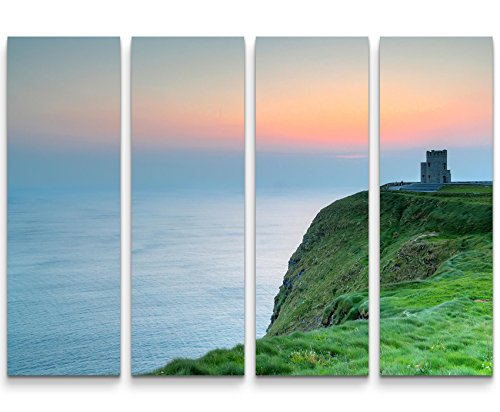 SIN-US 74 Cliffs of Moher – Irland Dämmerung - 4 teiliges Canvas Bild 4x30x90cm