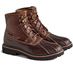 Gold Cup Lug Duck Boots Brown TAN
