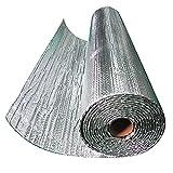 Materiale Premium: la membrana in lamina di alluminio è composta da due strati di pellicola riflettente al 96% legati con uno strato interno di bolle di polietilene di grosso spessore. Questo isolamento in lamina è impermeabile al 100% e resistente a...