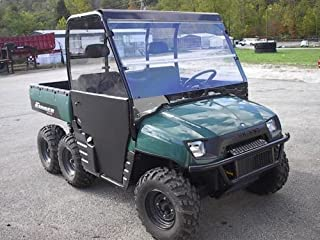02-08 Polaris Ranger 800,700 Tinted Folding Windshield.1/4 Thick Polycarbonate!
