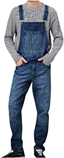 Yowablo Herren Overall Arbeitshosen Jeans Jumpsuit Shorts Lightwash Hosenträger Kurze Jeanshose Latzshorts Freizeit
