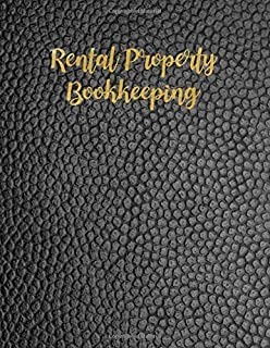 Rental Property Bookkeeping: Black Minimalist Property Investor Management Logbook, Yearly Financial Goals, Income & Expense, Insurance, Tenant Interview Log