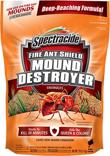 Spectracide HG-96471 Fire Ant Shield Mound Destroyer Granules 7 Pounds, Kills T, 7 lb
