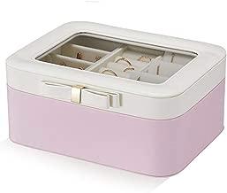 صندوق مجوهرات قابل للحمل أثناء السفر صندوق تخزين من الجلد حقيبة مجوهرات متعددة الطبقات سعة كبيرة للحمام/المكتب هدايا للتشطيب النهائي للأم والصديقات والأخوات