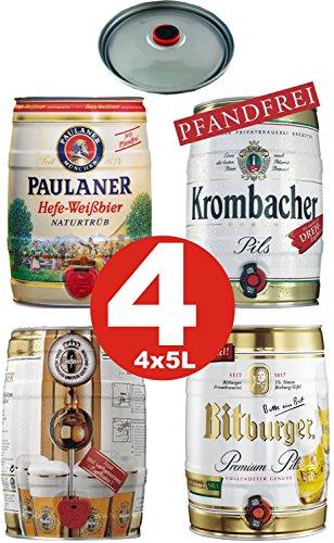 4x5 Liter Partyfass Verschiedene Sorten Alkoholgehalt siehe Beschreibung