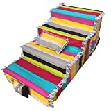 WEIJINGRIHUA Pet Steps Stairs Pets Gear Easy Step 4-Step Large Dog Stair for Tall Beds, Medium Cat Stair Stairs Pet Stair Senior Sofa, Non-Slip Bottom