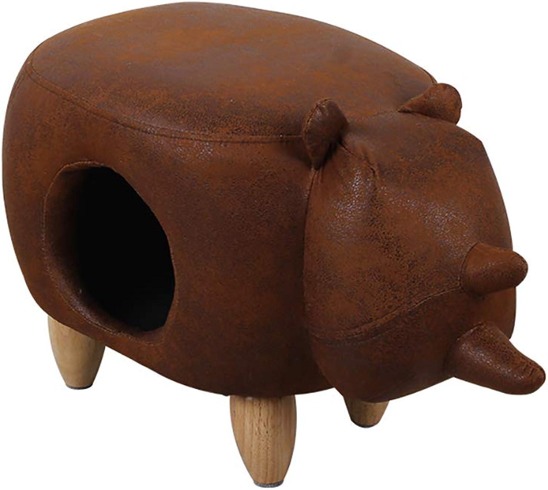 QNMM Stylish Cat Stool House Soft Comfort Cushion Small Animals Indoor Stool Footstool, Easy To Assemble,Rhino