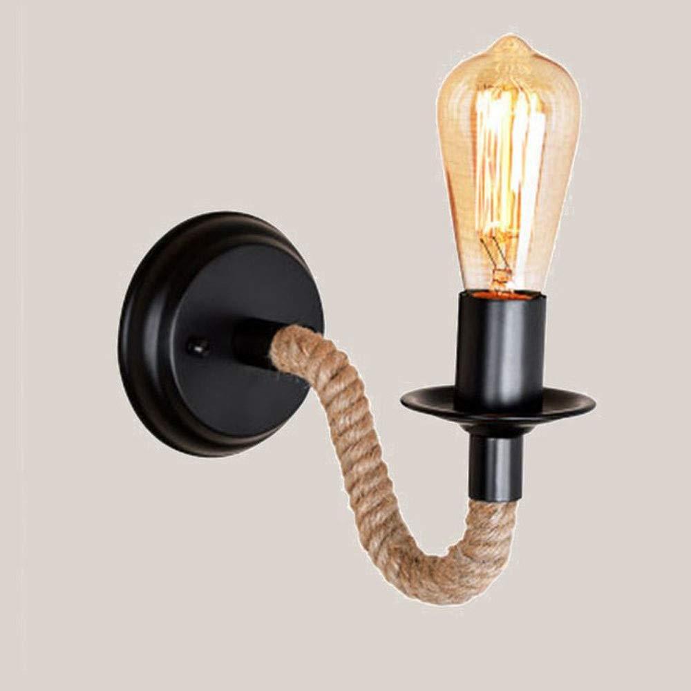 Applique murale minimaliste moderne Industriel Luminaire Applique Murale en Corde /Éclairage Vintage Edison Lampe Douille E27 pour pour D/écoration de Maison Bar Restaurants Caf/é Club (Blanc)