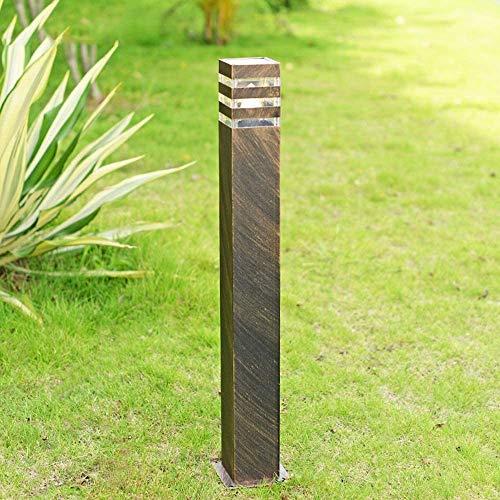 Außen Retro Wegeleuchte Outdoor Bronze Säulenleuchte Wasserdicht IP44 Gartenlampe Aluminium und Acryl Terrassenlampe Pollerlampe für Rasen Eingang Terrassen Patio Park Pfad Hof (Höhe 80CM)