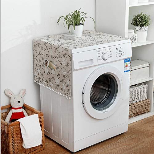 Tvättlock Multifunktionell tvättmaskinkåpa, kylskåp, torklock Kylskåp praktiskt för frysskåp(55 * 130cm 51x21inch)
