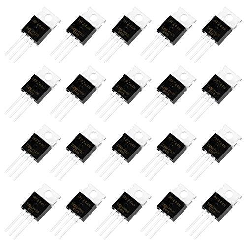 Fumanduo 20 Stück IRFZ44N N Kanal Gleichrichter Mosfet Transistor Leistungstransistor Sortiment N Kanal 3-polige Transistor Audio Transistor Darlington Transistor Power Mosfet 49A 55V für Industrie
