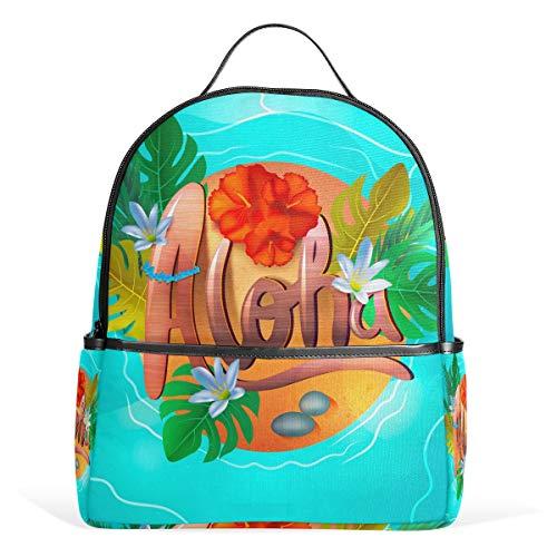 Eslifey Hawaiian Aloha - Mochila escolar para estudiantes