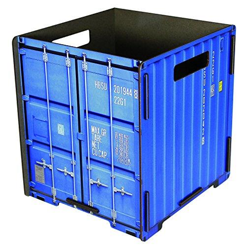 werkhaus - TRASH CONTAINER Mülleimer Containeroptik, blau