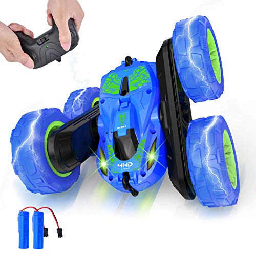 Remote Control Car 4WD RC Cars 360° Double Flips Stunt Car, 2.4GHz Remote Control Boys Toys for Kids 5-12 Years Old