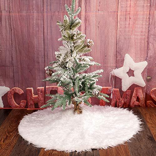 Kitchnexus Deluxe Weiß Plüsch Weihnachtsbaumdecke Christbaumdecke Tannenbaum Unterlage Weihnachtsbaum Rock Weihnachtsdeko Xmas Schmücken Geschenk Schaufenster Requisit