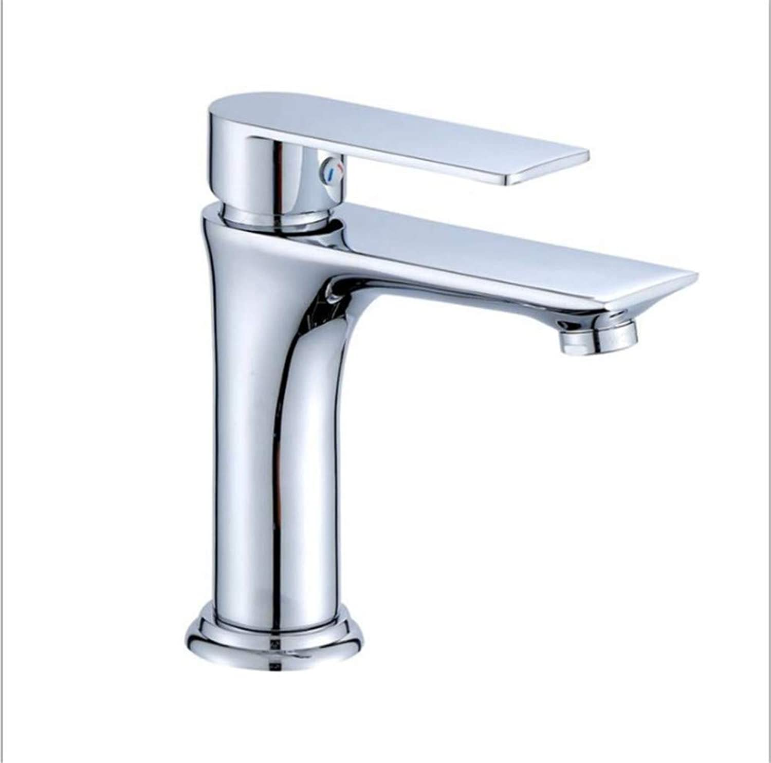 Water Tap Kitchen Taps Faucet Modern Kitchen Sink Taps Stainless Steelsingle-Hole Faucet Bathroom Mixed with Hot and Cold Water Faucet On The Platform of Basin Faucet