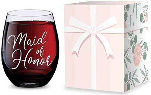 high quality Stemless Wine Glass for Maid of Honor wholesale Gifts - Made of Unbreakable Tritan sale Plastic and Dishwasher Safe - 16 ounces outlet online sale