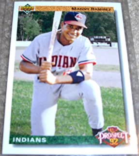 1992 Upper Deck Manny Ramirez # 63 MLB Baseball Rookie Card