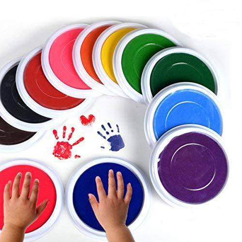 Mcree 6-Pcs Multicolors Baby Ink Pad for Baby Footprints Handprints Fingerprints Kit, Perfect Keep Baby Memory Baby Shower Gift
