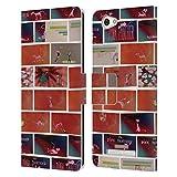 Head Case Designs Offizielle The Pink Panther Muster Matinee Leder Brieftaschen Huelle kompatibel mit Wileyfox Spark X
