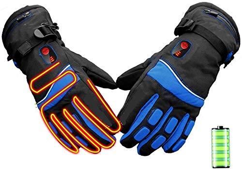 Thermo-handschoenen voor vissen, lederen handschoenen voor winter skiën en ijslussen, handwarmer met 3 standen temperatuurbesturing outdoor sports snowboarding, skii reizen
