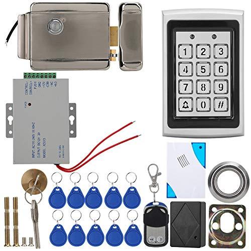 DEWIN toegangscontrolesysteem - deurtoegangscontrole deurtoegangssysteem elektrisch slot afstandsbediening deurbel voeding 10 sleutelhangers AD-F005