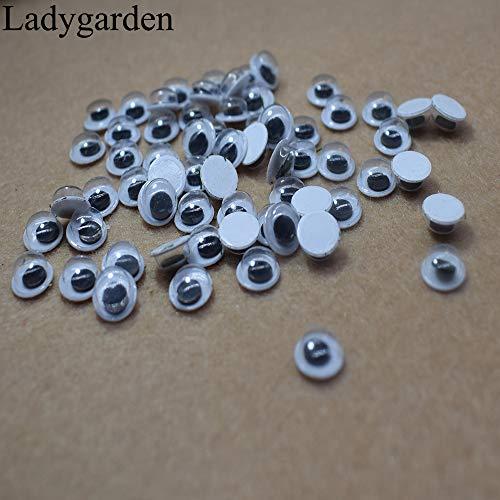 Dorime 10pc 25MM / 30MM / 40MM / 50MMDolls Augen Nicht selbstklebend Eye für Spielzeug Puppen Googly Black Eyes Gebraucht forAccessories