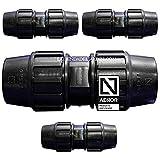 Suinga Pack 4 x MANGUITO ENLACE POLIETILENO 32MM. Producto con certificado AENOR utilizado en tuberías PE 32 mm para uso fontanería, riego y obras.