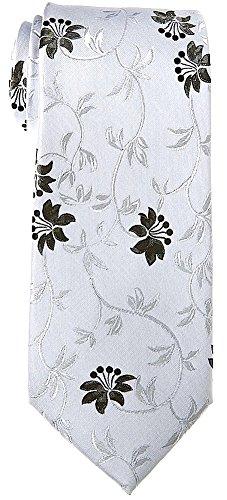 Floral Ties for Men – Woven Necktie – Mens Ties Neck Tie by Scott Allan
