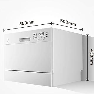 Lavavajillas completamente automático Desinfección doméstica de escritorio Lavavajillas integrado-6 tipos de procedimientos de lavado, temporizador de 29 minutos, esterilización a alta temperatura