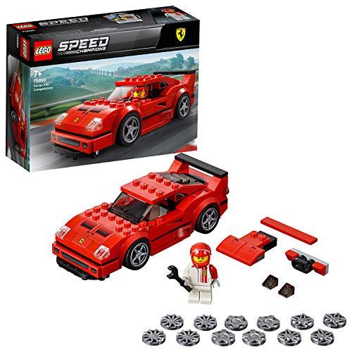LEGO Speed Champions - Ferrari F40 Competizione, juguete de construcción coche deportivo de carreras (75890)