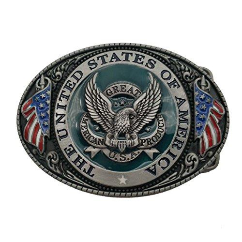 Hebilla de cinturón Great America Product Eagle USA Belt Buckle