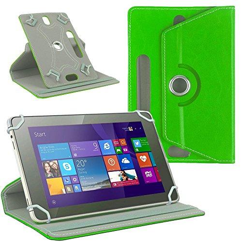 NAUC Tablet Tasche Hülle für CSL Panther Tab 10 Schutzhülle Cover Hülle 360° Universal, Farben:Grün