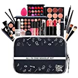 All in One Makeup Bundle - Includes Pro Makeup Brush Set, Eyeshadow Palette,Makeup Set Or Lipgloss Set