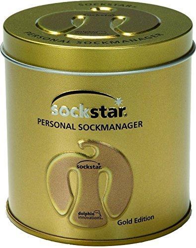 sock-clips Sockstar Gold Edition–Gift Box = 20pezzi in 4colori metallici in una elegante scatola in metallo di