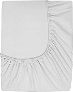 Prime Deep Pocket Fitted Sheet - Brushed Velvety Microfiber - Breathable, Extra Soft and Comfortable - Winkle, Fade, Stain Resistant (Silver, King)