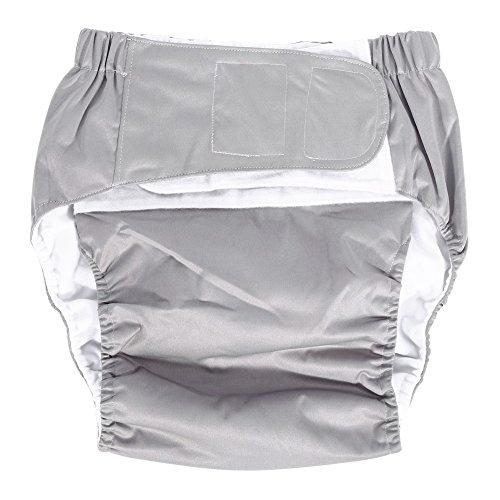 Pañal de Bolsillo para Adultos Pañal Ajustable Pañal Pantalones Lavables para Pañales Reutilizables para el Cuidado de la Incontinencia ( Color : Blanco )