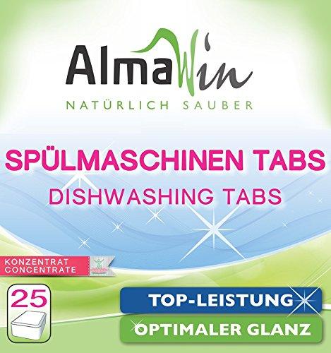 AlmaWin Spülmaschinen Tabs extra stark 25 Tabs vegan, Ecocert