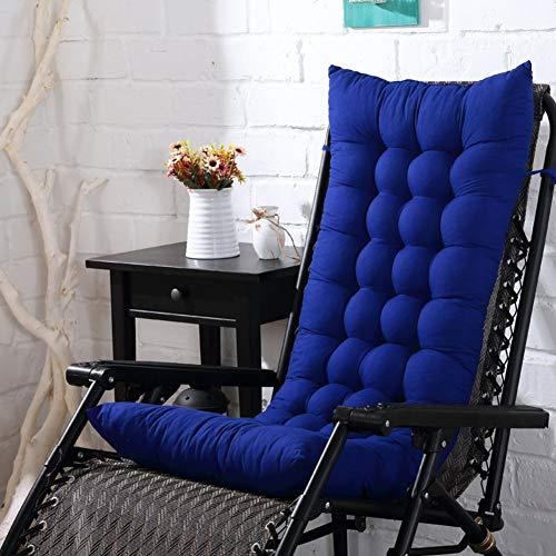 Cojín reclinable de Respaldo Suave, cojín de Silla Mecedora, sin Silla Tatami Mat Decor para sofá Dormitorio Almohadillas de cojín de Tumbona Gruesa-Azul 125x48x8 cm (49x19x3 Pulgadas)