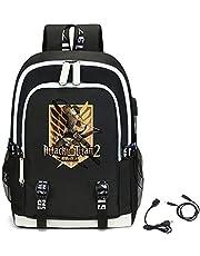 LKY STAR Unisex Attack on Titan Shingeki no Kyojin Scouting Legion Cosplay Mochila Personalidad Bolsos Escolares Casual Daypacks