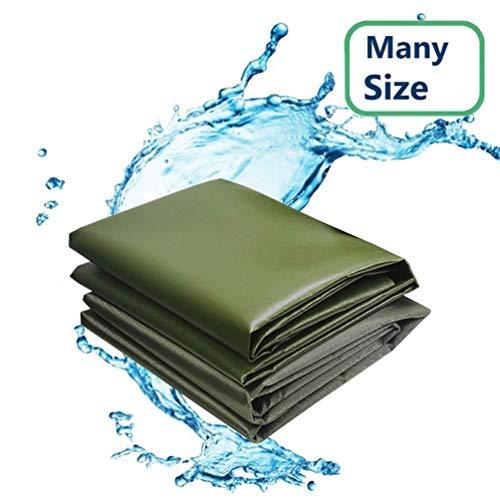 Xinke-Teloni Wetterfeste Abdeckplanen, strapazierfähig, wetterfest, mit Ösen für Außenbereiche, verstärkt, mehrfach verstärkt, Tarp for außen, 2 mx 3 m (6.5 x 10 ft) 6mX7m(20x23ft) grün