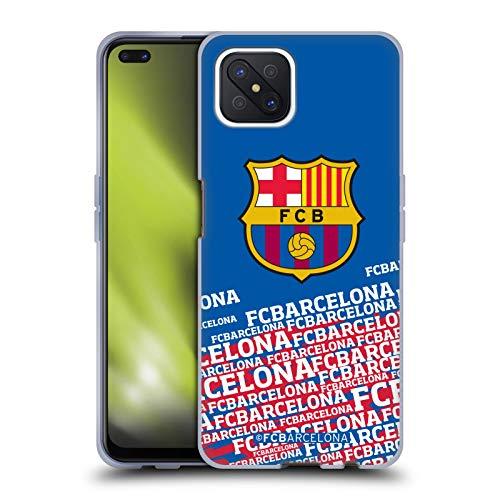 Head Case Designs Oficial FC Barcelona Impacto 2017/18 Crest Carcasa de Gel de Silicona Compatible con OPPO Reno4 Z 5G