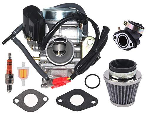 150cc Carburetor for GY6 4 Stroke Engines 125cc 150cc ATV Go Karts Scooter Mopeds QMJ/QMI157 QMJ/QMI152 - Manifold Intake Fiameter 24mm PD24J Carb